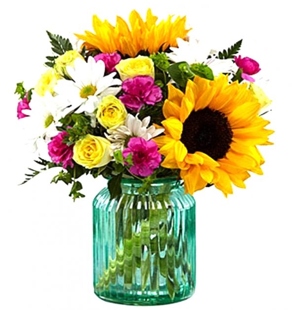 Sunflowers with mixed flowers