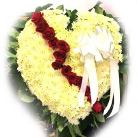 Broken heart funeral piece