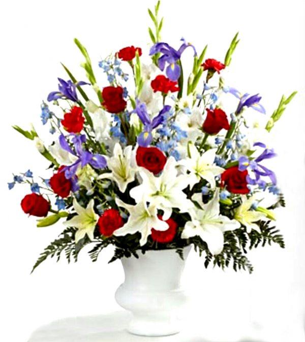 Elegant Funeral Basket Flowers