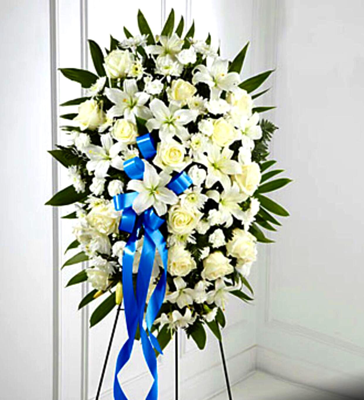 White Funeral Spray Sunlight Flower Shop